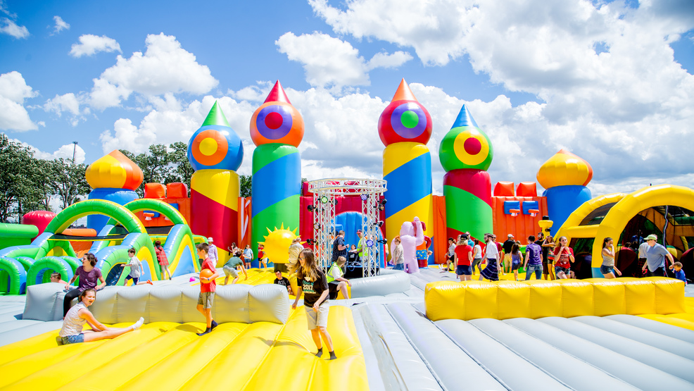 county s largest traveling bounce house makes stop in dc area for