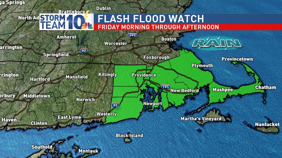 Flash flood watch issued for Southern New England