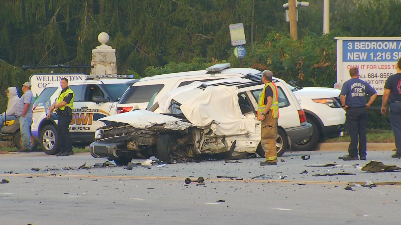 Authorities have released the name of the victim in Thursday morning's fatal wreck along Airport Road. (Photo credit: WLOS Staff)