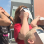 Hundreds gathered outside the Sioux City Public Museum downtown to take in the eclipse
