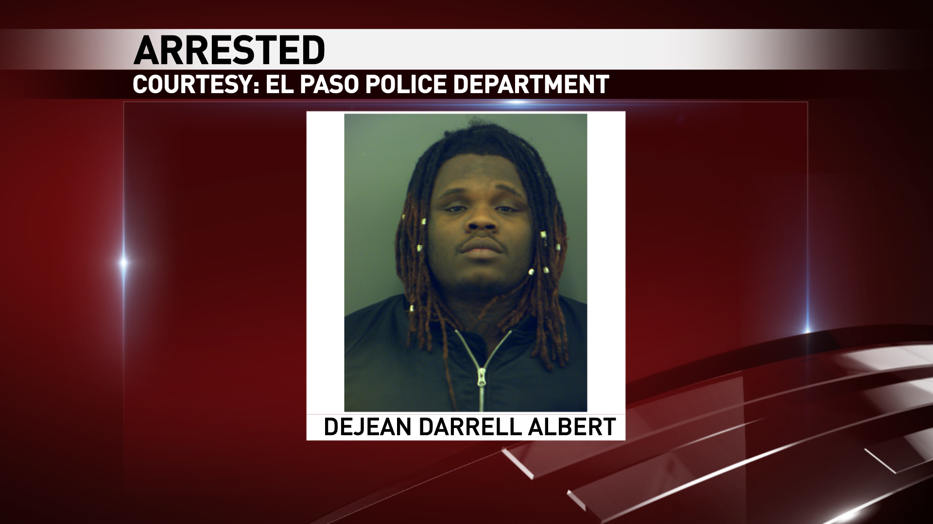 DejeanAlbert, 23, was arrested on a charge of possession of cocaine and a trafficwarrant.
