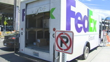 'Packages were flying all over the road': Thief takes stolen FedEx truck on wild ride