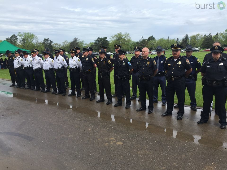 NBC25/FOX66 photojournalist Mike Horne takes us to the somber memorial service to remember those who were lost too soon, and in the line of duty. (Photo: WEYI/WSMH)