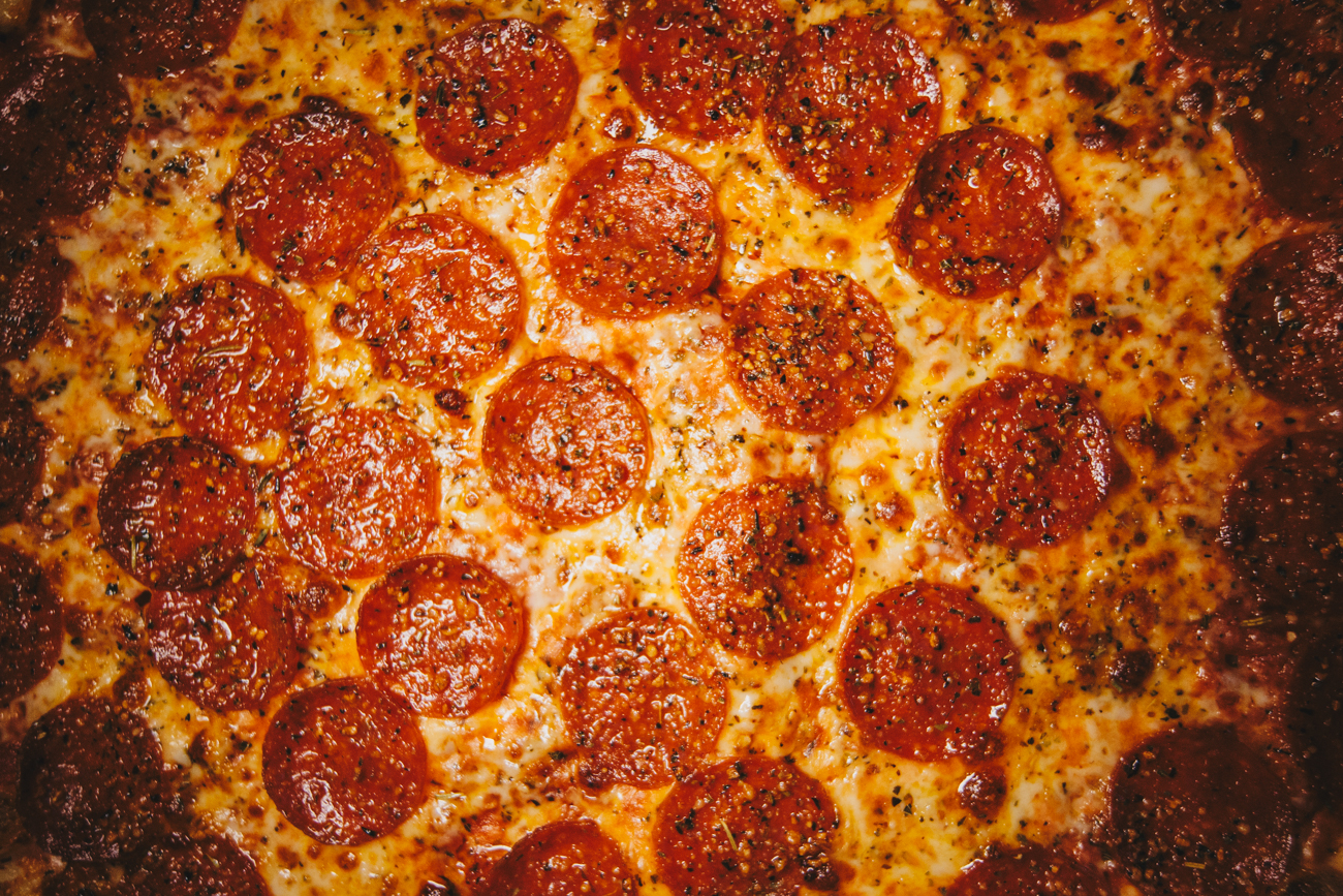 Plain-Ass Pepperoni: pepperoni, sprinkled with parmesan cheese / Image: Catherine Viox // Published: 4.4.19