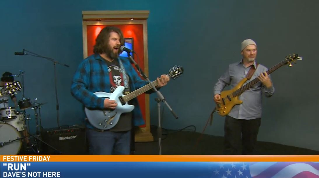 Dave's Not Here rocked Great Day's Studio B for Festive Friday