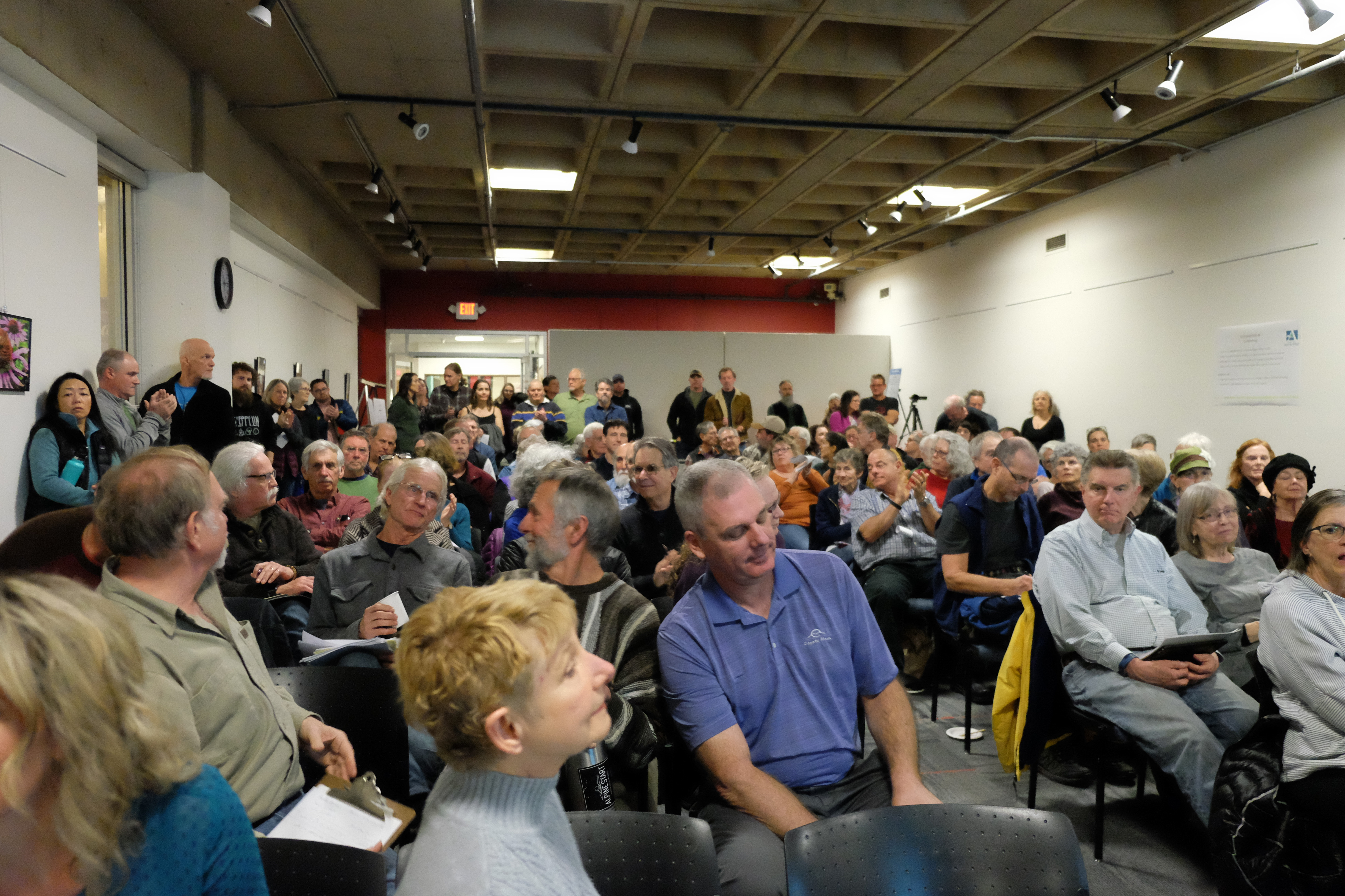 About 100 citizens attended the public input session Thursday for the proposed Ashland Canal (T.I.D.) piping project.{ }Ashland Tidings / Caitlin Fowlkes{ }
