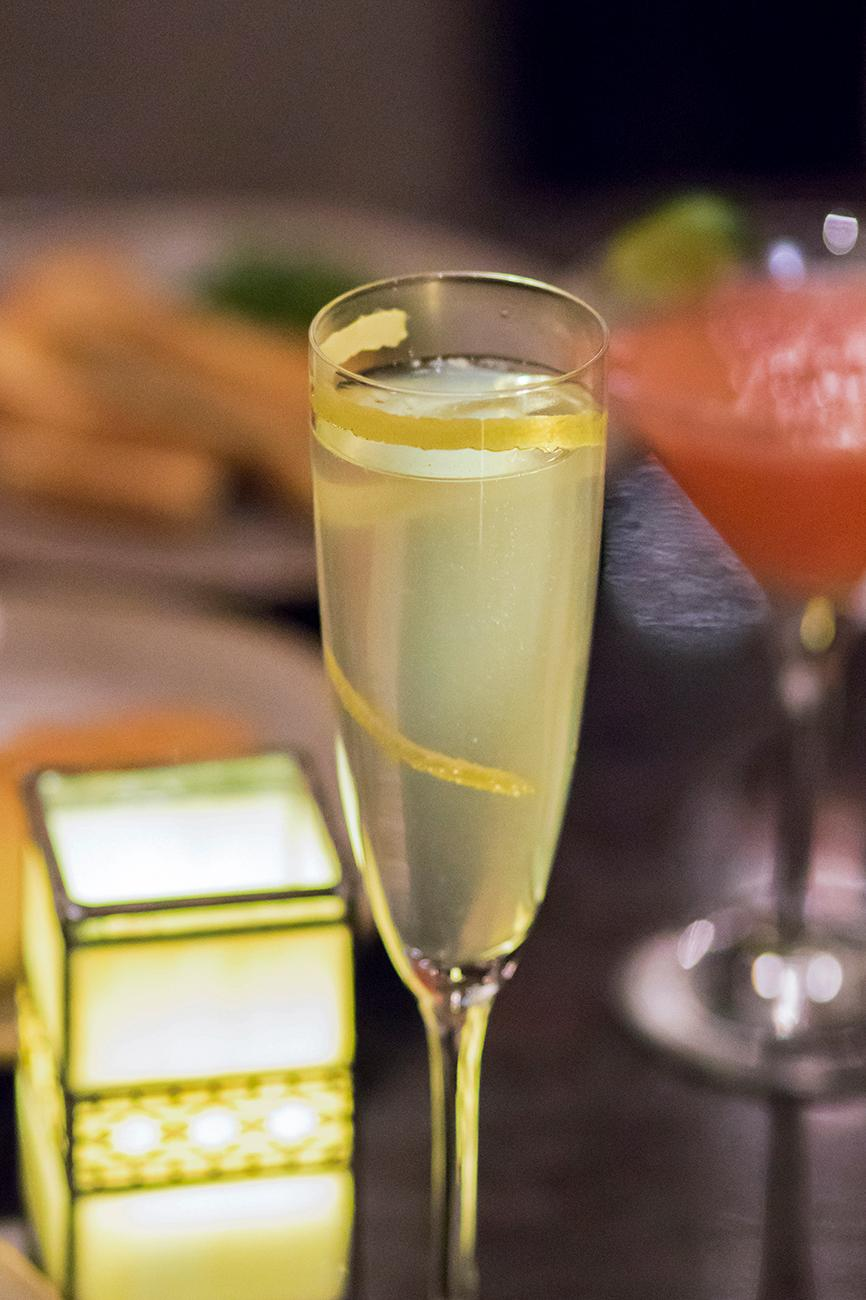 French 75: Tanqueray, sparkling wine, and a lemon twist garnish / Image: Allison McAdams // Published: 1.31.18<p></p>