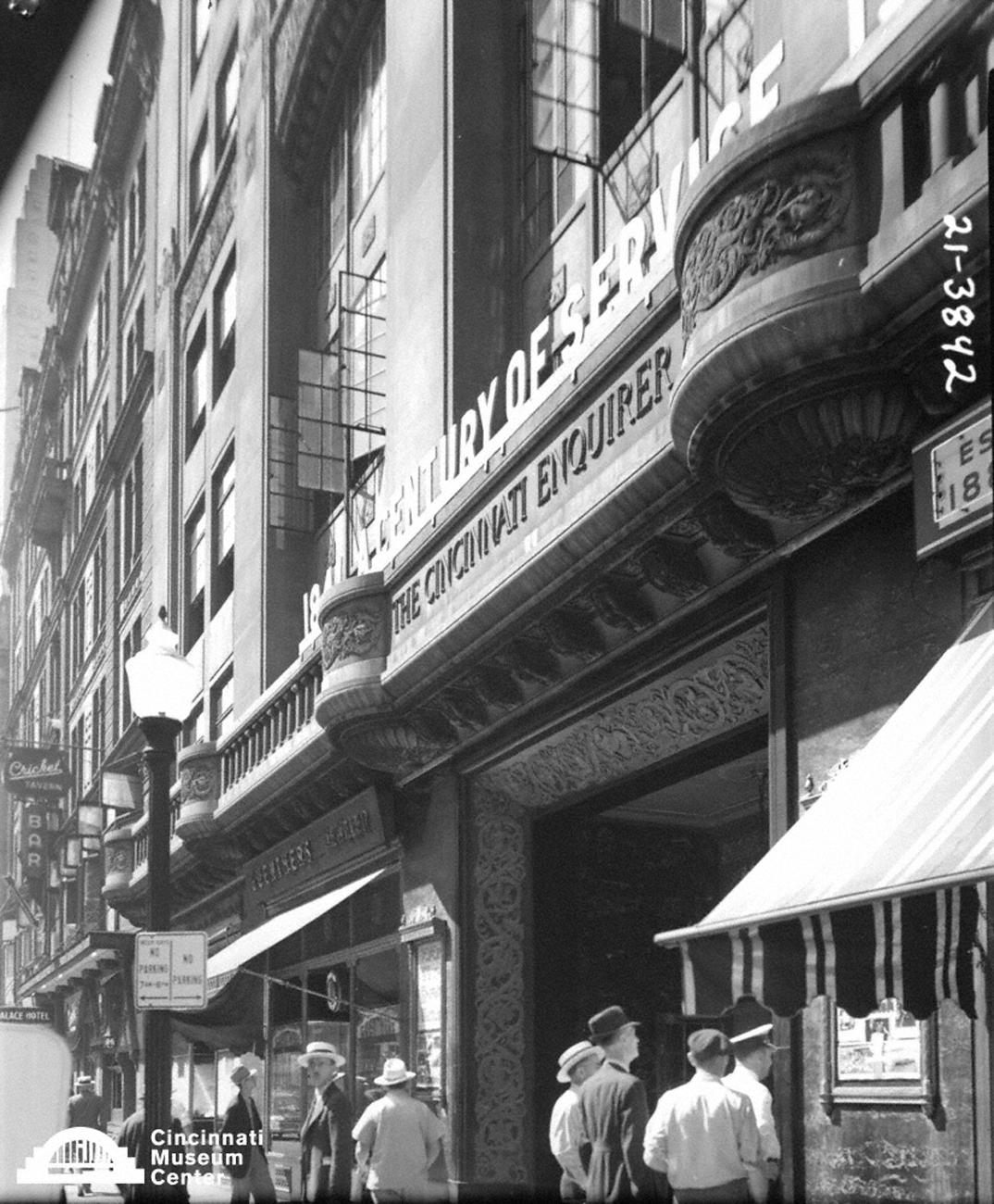 Aside from his notable Queen City photography, Paul Briol was also a Cincinnati Enquirer photographer/columnist, a Cincinnati socialite, and a book shop manager at various points in his life. Pictured is the Cincinnati Enquirer Building sometime in the mid-1900s. / Image: Paul Briol, accessed via the Cincinnati Museum Center History Library and Archives // Published: 2.16.19
