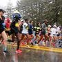 Charlevoix resident wins wet, windy Boston Marathon