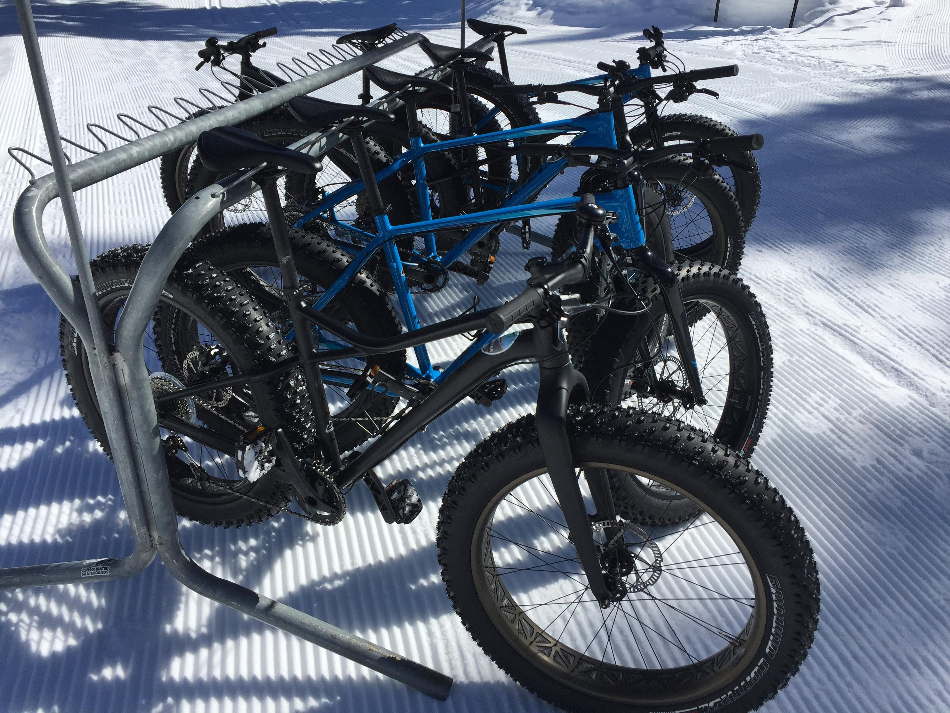 Northstar resort in North Tahoe rents out fat tire bikes at its Cross Country Ski Center.