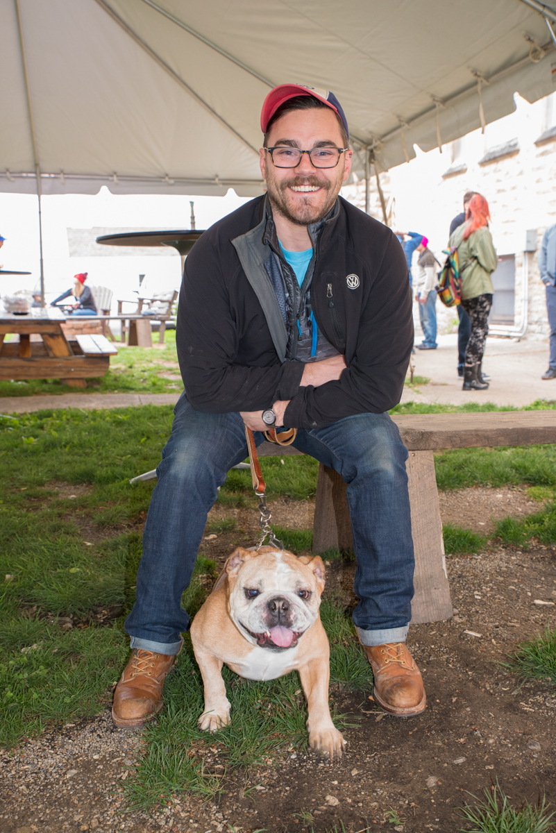 Jon Frayer and Bang the dog / Image: Sherry Lachelle Photography