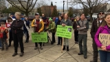 """Not My Presidents Day"" rally draws hundreds to downtown Eugene"