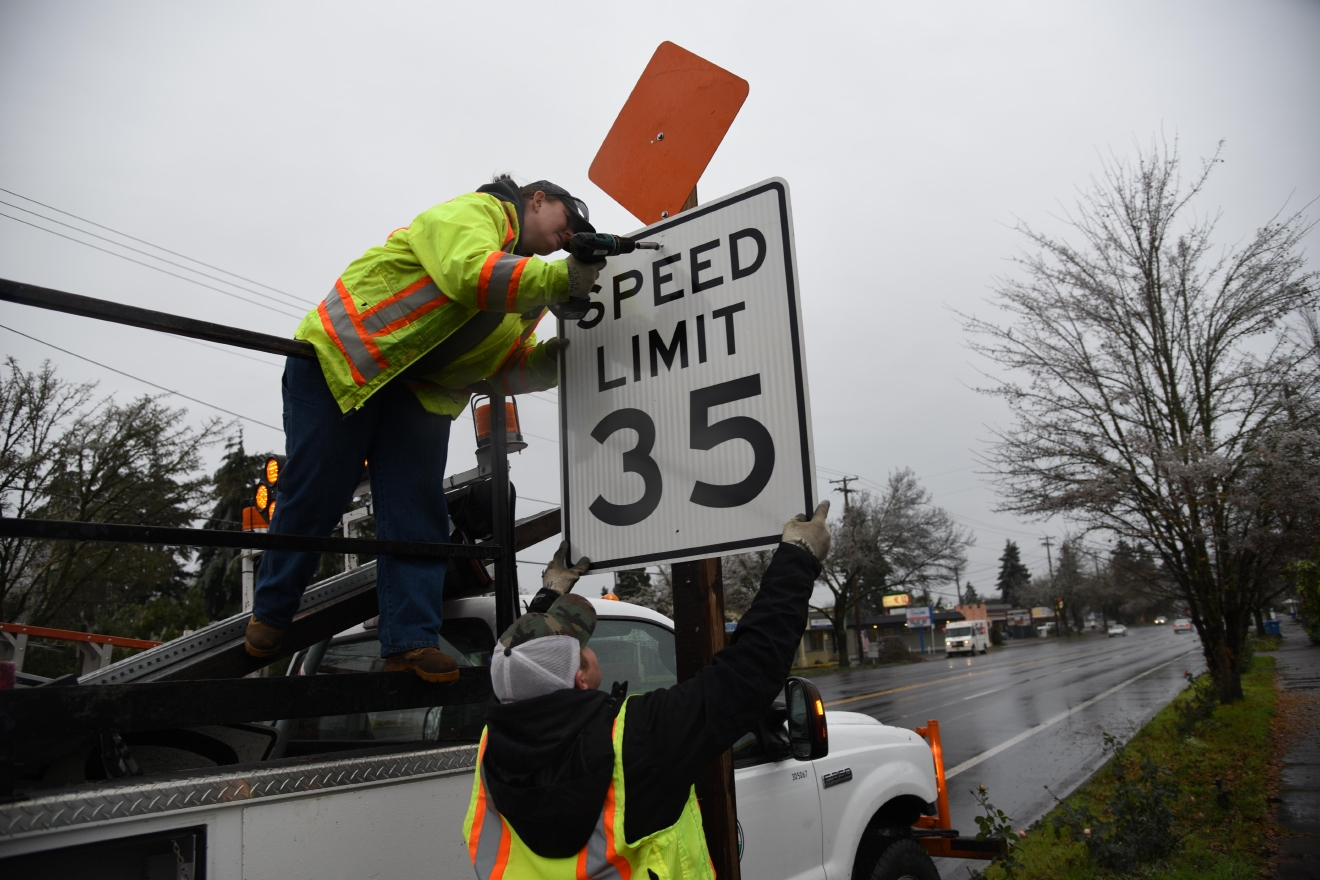 After several complaints from residents in the area and after examining speed and road conditions, the Oregon Department of Transportation decided to reduce the speed limit on parts of River Road to 35 miles per hour. Photo courtesy City of Eugene
