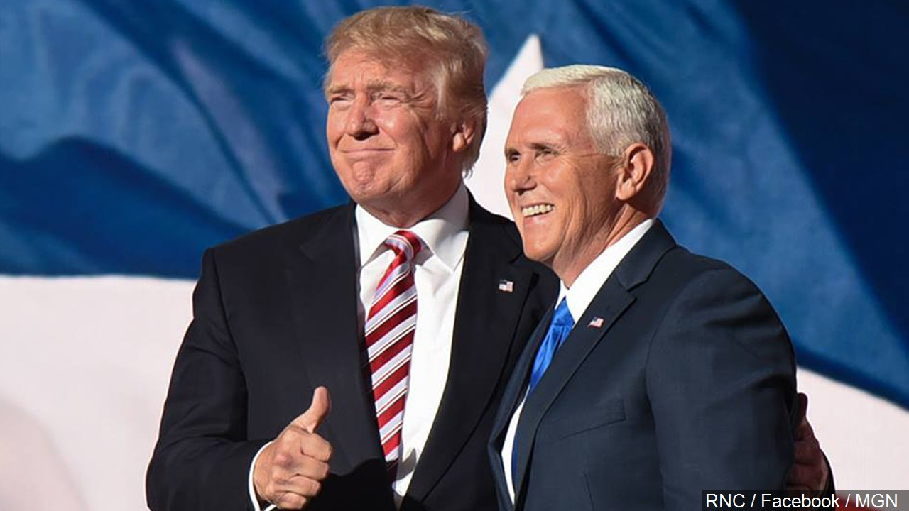 Donald J. Trump and Governor Mike Pence, Photo Date: 7/21/16 (Photo credit: RNC / Facebook / MGN)