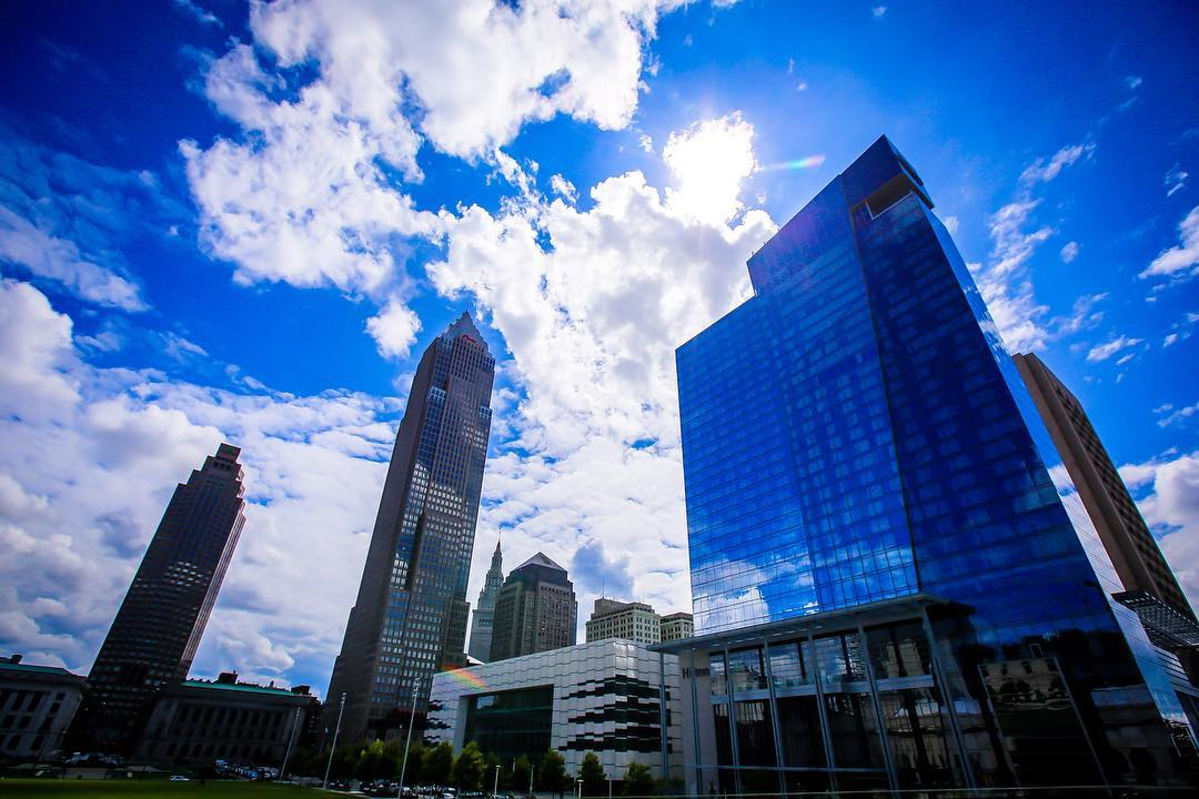 IMAGE: IG user @digital504 / POST: Great blue skies & clouds today in downtown CLE.