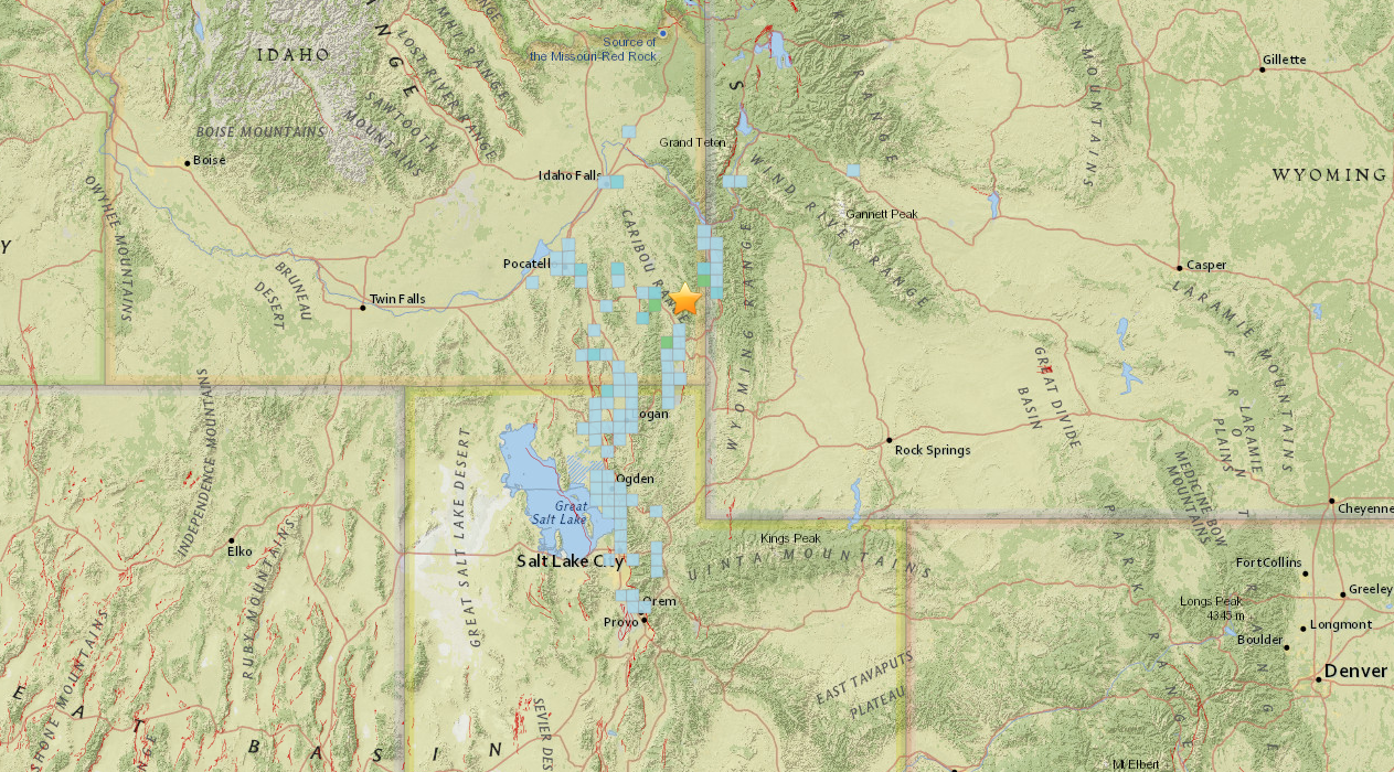 5.3- magnitude earthquake strikes southern Idaho; tremors felt throughout Utah (Photo: USGS)