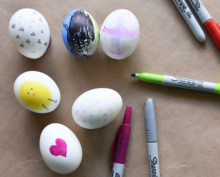 Use Sharpies to create artistic masterpieces on your eggs. (Image: Rebecca Mongrain/Seattle Refined)