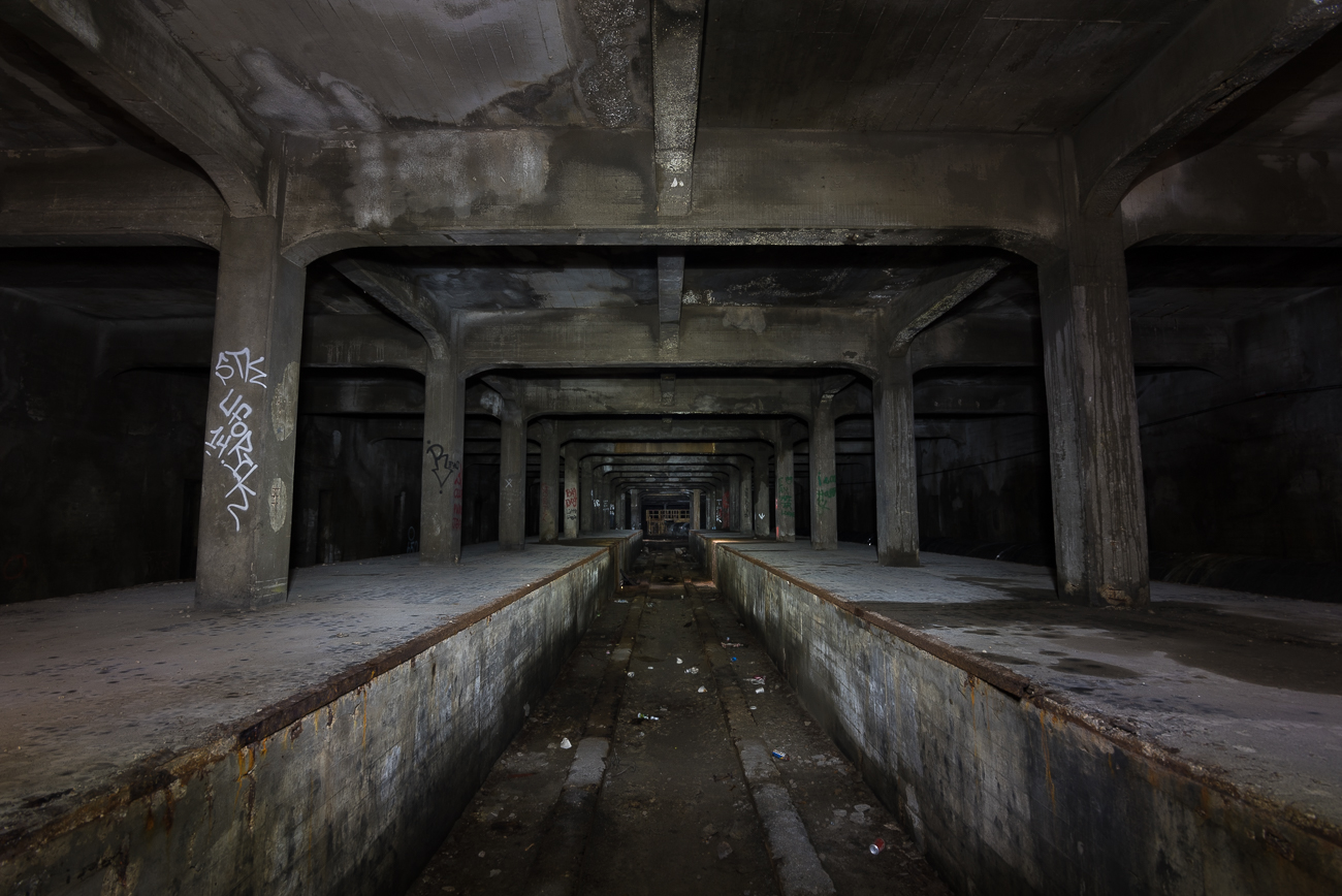 The abandoned Cincinnati subway is perhaps the city's most captivating underground area because of its sheer enormity and restricted access to the public. Construction began in 1920 and failed to finish more than two miles of tunnel before being scrapped 25 years later after the end of World War Two. While tours were offered in the past, it is no longer accessible. / Image: Phil Armstrong, Cincinnati Refined // Published: 6.14.18