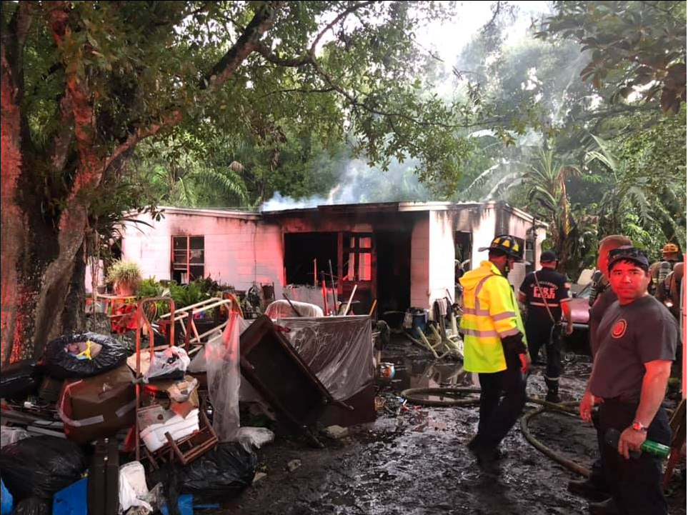 Crews battling house fire in Fort Pierce (St. Lucie County Fire District)