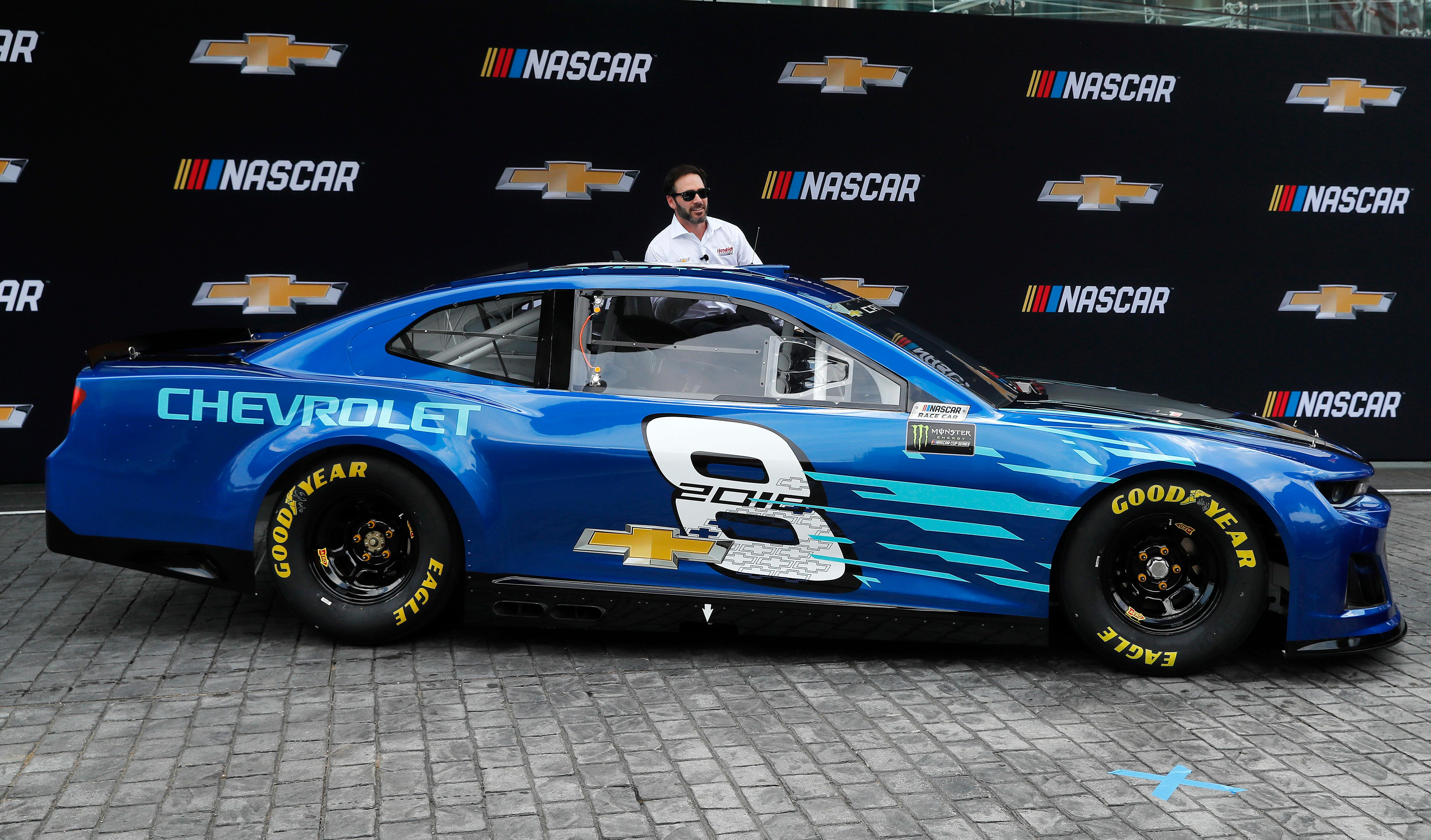 2018 chevrolet nascar cup car. brilliant nascar jimmie johnson introduces the 2018 chevrolet camaro zl1 as a new race car  for monster for chevrolet nascar cup