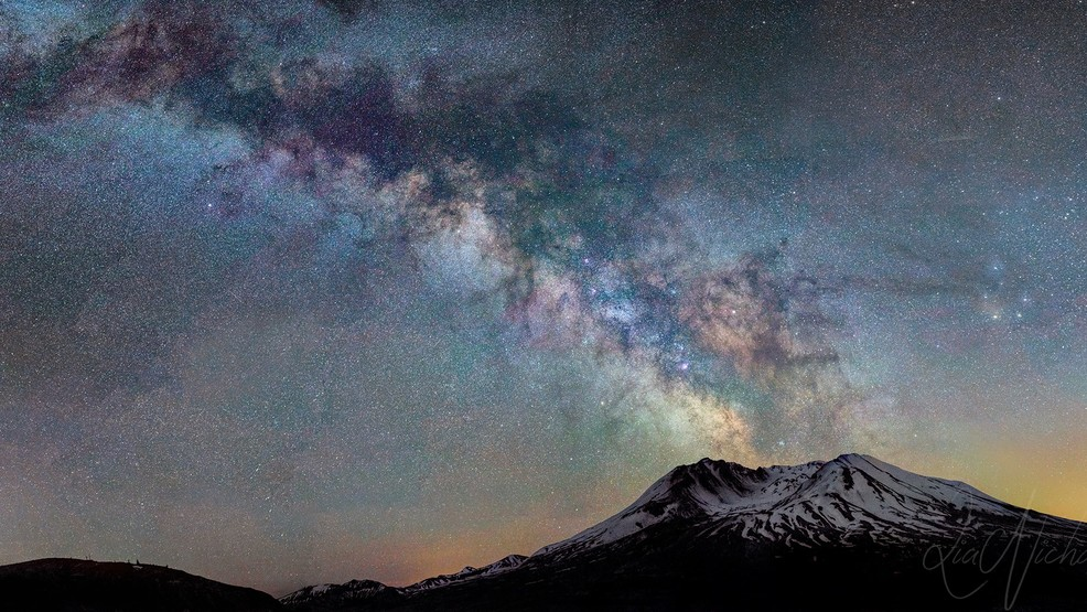 Photos: The celestial red carpet? Clear spring nights bring out the stars in the Northwest