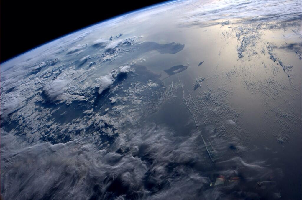 Have a great weekend.  Trinidad and Tobago in the evening sun. (Photo & Caption: Reid Wiseman, NASA)