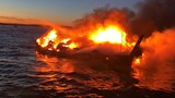 Boat catches fire in water, 1 injured