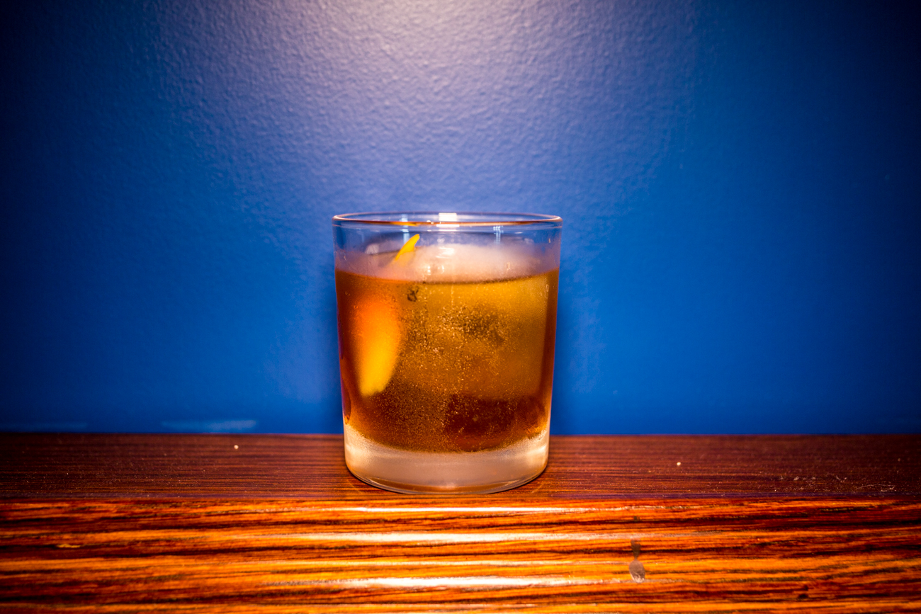 The Woodhouse: bourbon, scotch, molasses, and simple syrup / Image: Catherine Viox // Published: 9.5.19