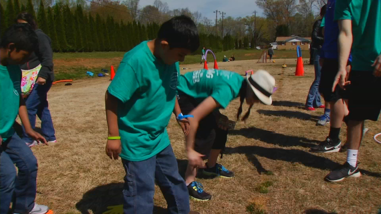 The fourth annual Glow Run is at 5:15 p.m. Saturday at Fletcher Park. Proceeds for the run are split between the local lodge and Henderson County Special Olympics. (Photo credit: WLOS staff)