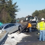 Crash takes out highway sign on Route 24