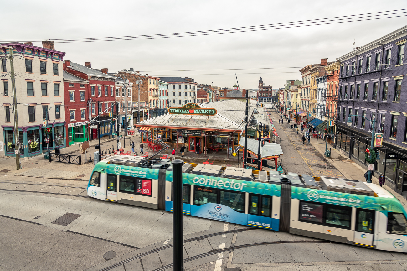 The location is perfect for someone who enjoys Findlay Market, enjoys taking public transportation, and wants to live in a walkable, urban environment. / Image: Phil Armstrong // Published: 1.6.21