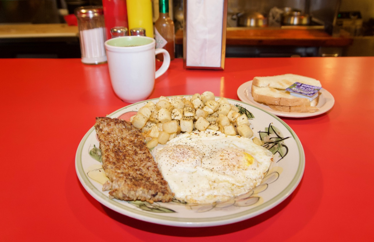 <p>Cock-a-doodle Dayton: Two eggs any style, goetta, home fries, and toast / Image: Brian Planalp // Published: 8.15.18</p>