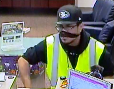 The FBI is offering a $1,000 reward for information that leads to arrest in Anthony, New Mexico bank robbery. (Credit: FBI)<p></p>