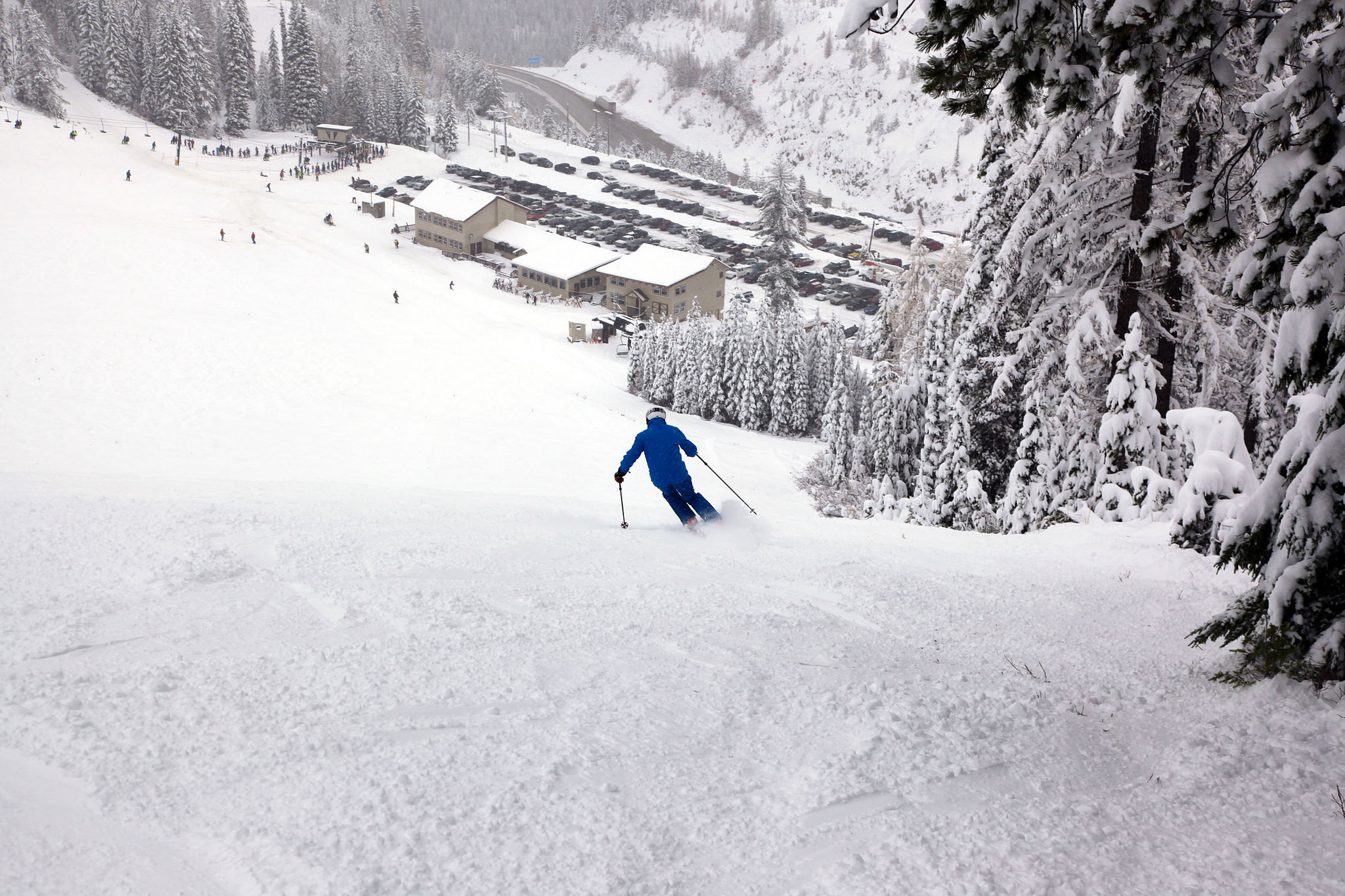 Ski season in Idaho has officially started! Lookout Pass in northern Idaho is the second ski resort in the northwest to open up and the first in Idaho, Montana or Washington. It currently has 16 inches of snow at the base and 28 inches at the summit. (Courtesy Tony Harrison)