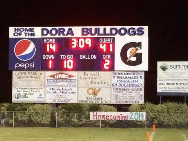Pleasant Grove held a 41-14 halftime lead over Dora, Friday, Oct. 17, 2014.