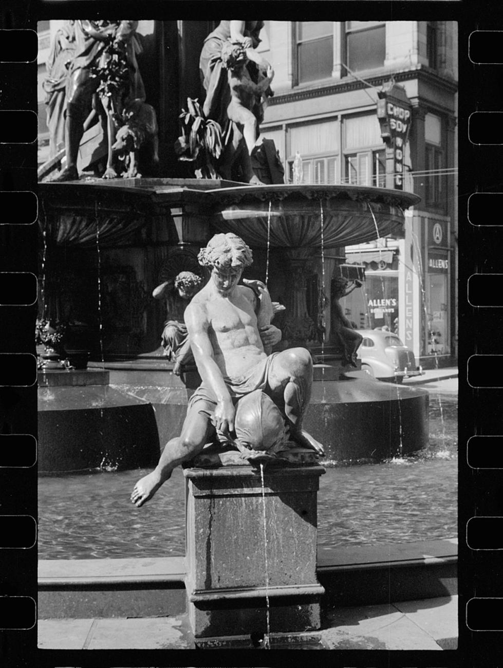 """Tyler-Davidson Fountain, Cincinnati, Ohio"" some time between 1900 and 1906{ }/ Image: Detroit Publishing Co. accessed via the Library of Congress // Published: 3.4.19"