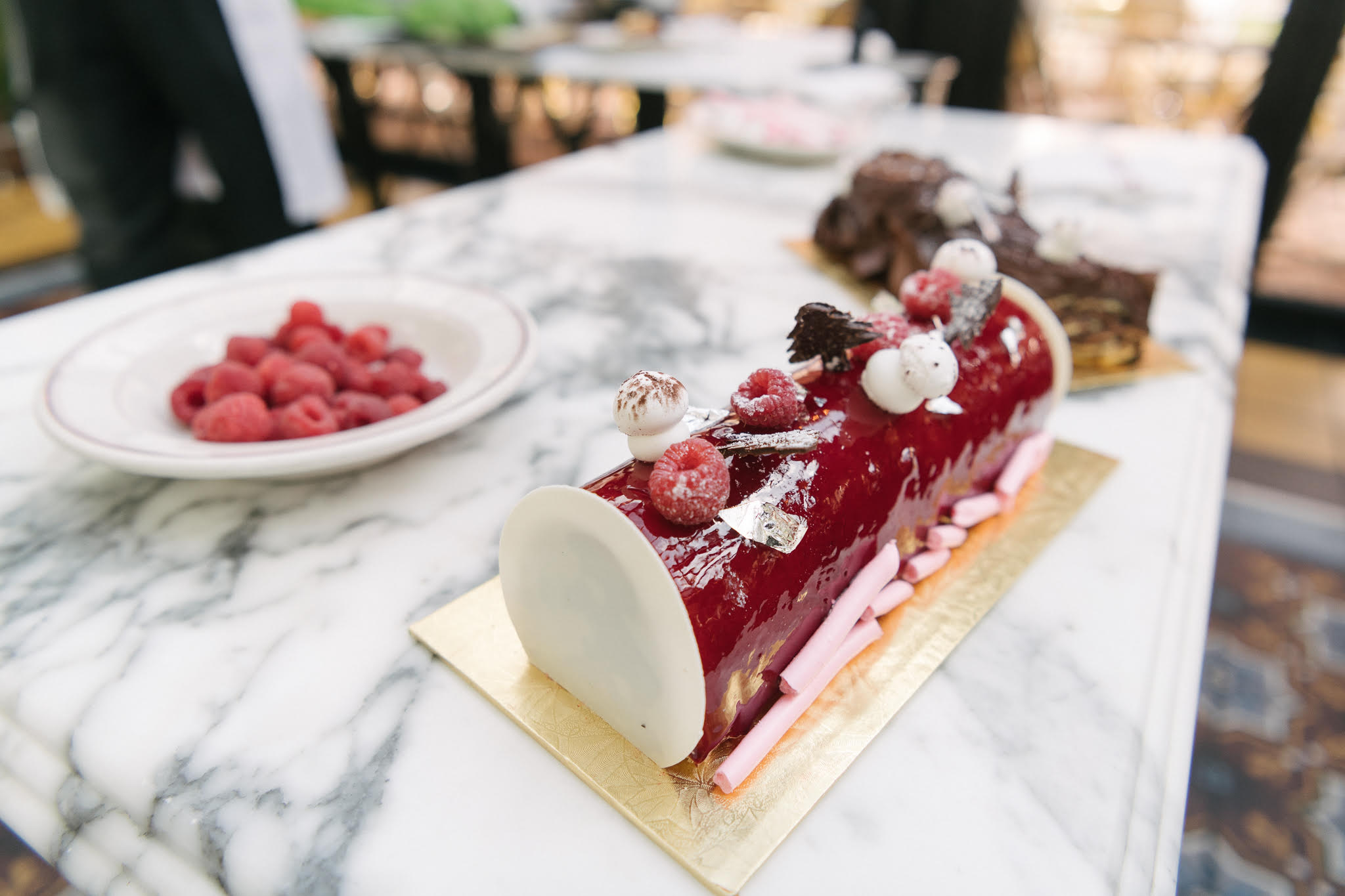 Bûche de Noël from Le Diplomate //{ }Price: $40 // Purchase by calling 202-332.3333 48 hours in advance { }//  https://lediplomatedc.com // (Image: Le Diplomate)