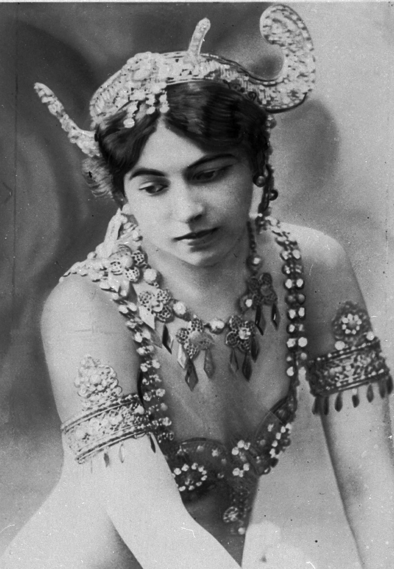 "An undated photo of dancer ""Mata Hari"". Born Margaretha Zelle who was executed during World War I for being a spy. A century ago, on Oct. 15, 1917, an exotic dancer named Mata Hari was executed by a French firing squad, condemned as a sultry Dutch double agent who supposedly led tens of thousands of soldiers to their death during World War I. (AP Photo/Virginia Mayo)"