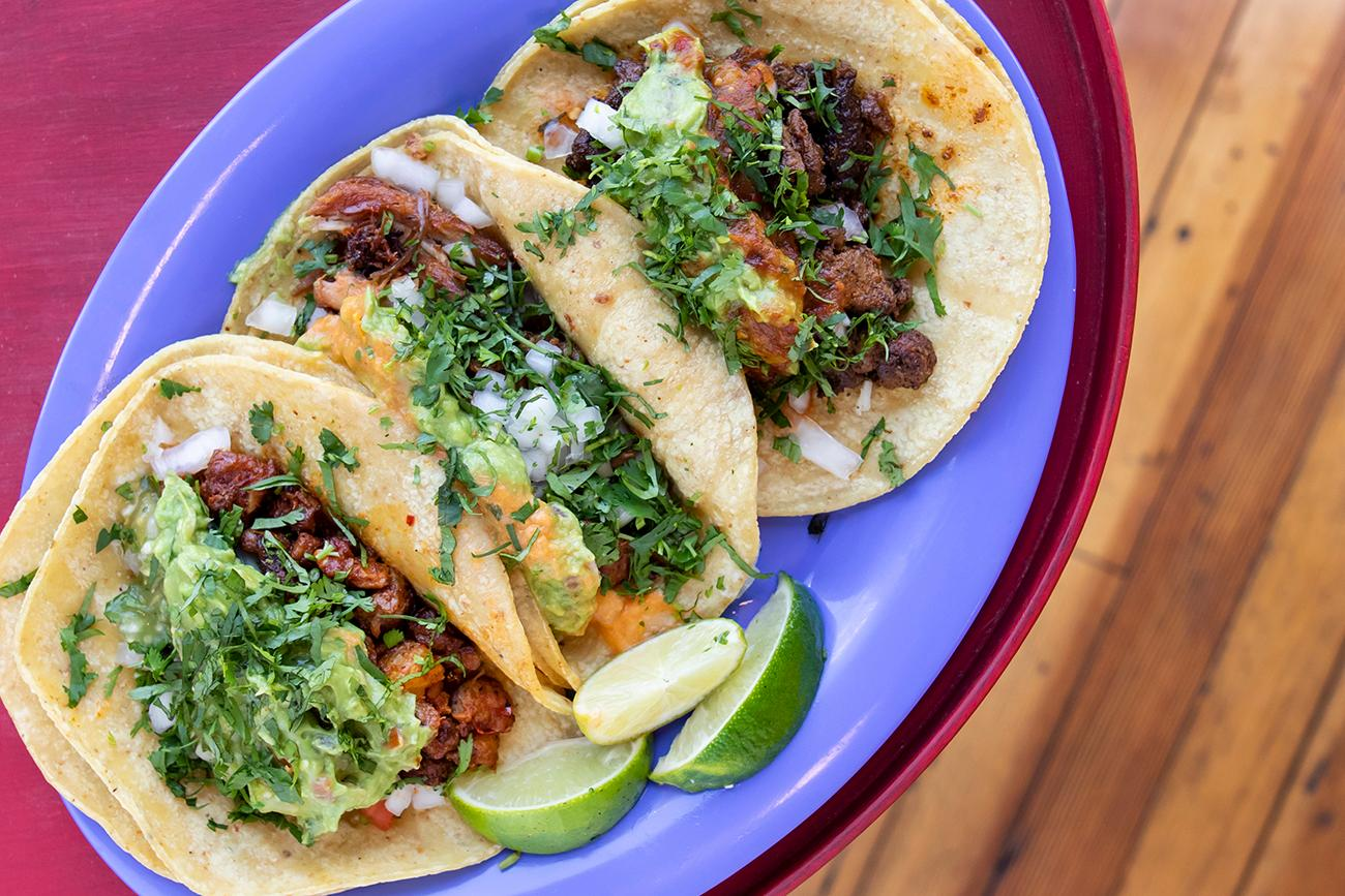 <p>Every Tuesday, Tortilleria Garcia has tacos for $1 to celebrate the weekly holiday of Taco Tuesday. / Image: Allison McAdams // Published: 8.20.19</p>