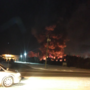 Crews battle large business fire in Elkhart