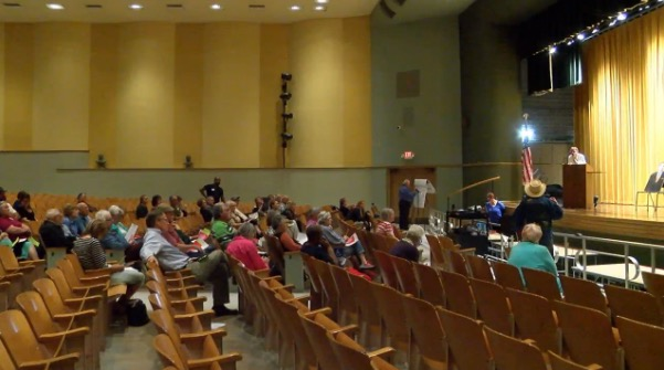 Questions and concerns ranged from health care to immigration, and education to environmental issues. (Colby Smalzel, ABC7 Amarillo)