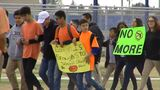 Chaparral Middle School students walkout protesting gun legislation