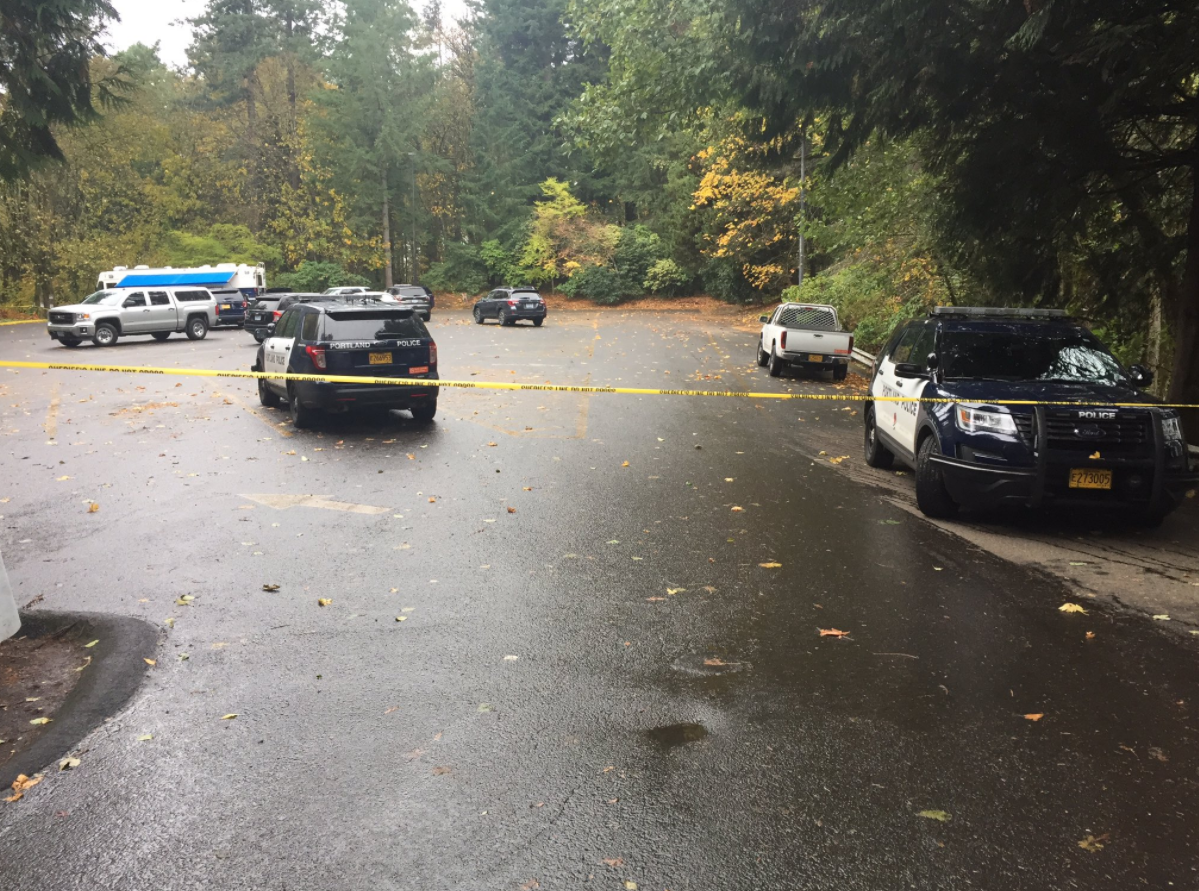 Forest Park death investigation (KATU News photo)<p></p>