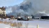 Crews battle barn fire in Outagamie County