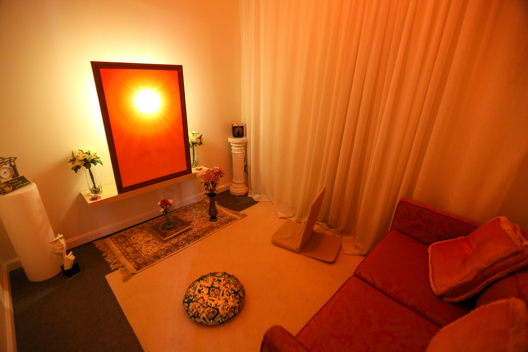 The solitary meditation room. (Amanda Andrade-Rhoades/DC Refined)