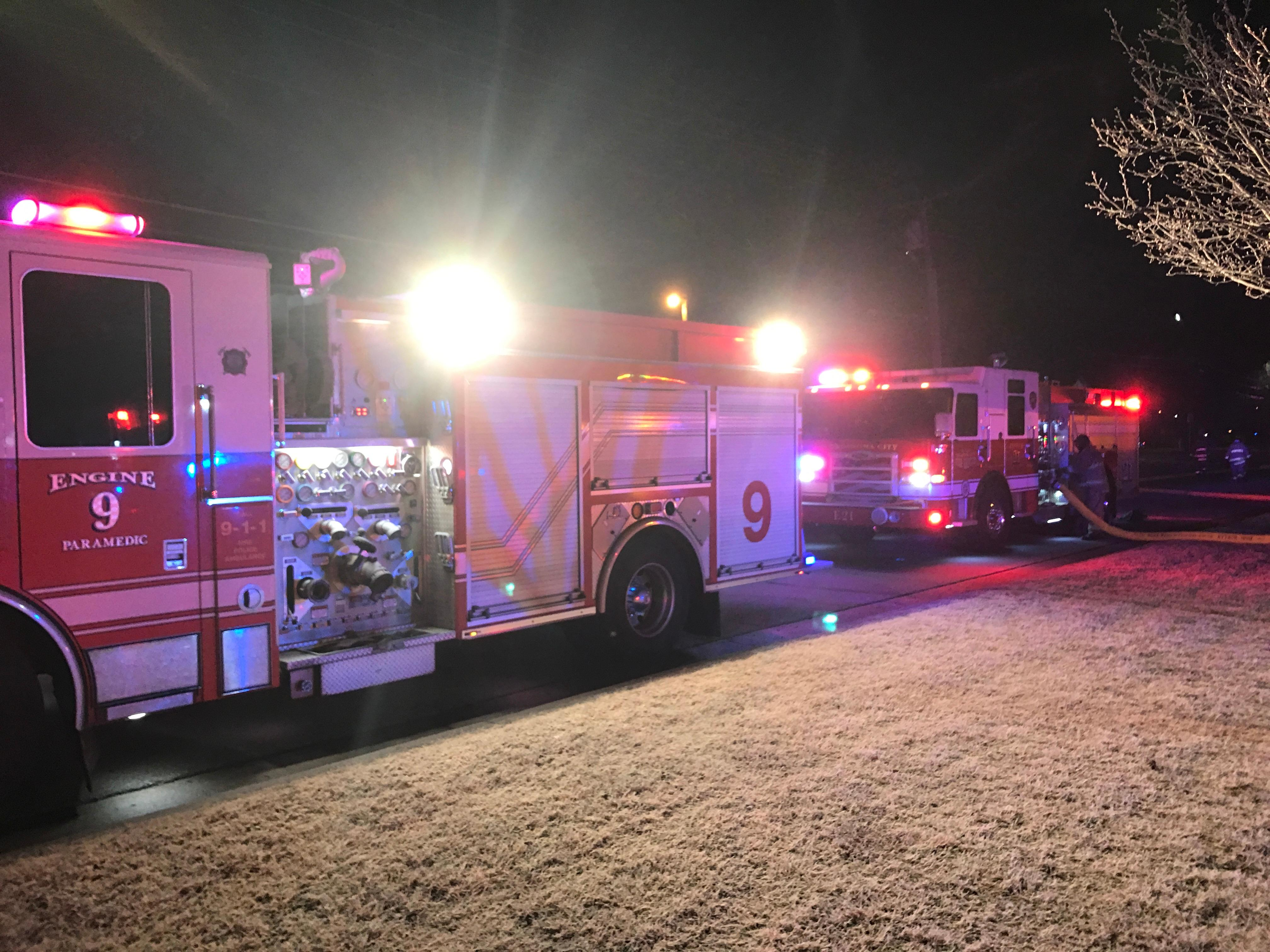 Firefighters battled ice during a frigid apartment fire early Jan. 16 in Oklahoma City. (Oklahoma City Fire Department)