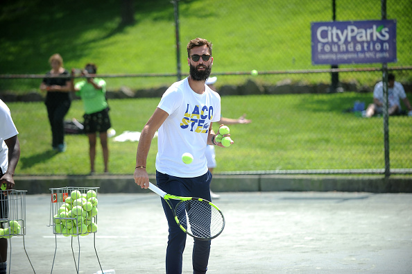 NEW YORK, NY - AUGUST 27: Tennis Player Benoit Paire attends the LACOSTE And City Parks Foundation Host Tennis Clinic In Central Park on August 27, 2017 in New York City.  (Photo by Brad Barket/Getty Images for LACOSTE)