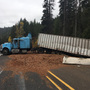 Taco-eating semi truck driver crashes, dumps load along Blewett Pass