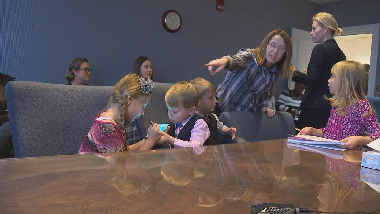 Adoption was finalized for 17 children in Franklin County Thursday, on National Adoption Day (WSYX/WTTE)<p></p>