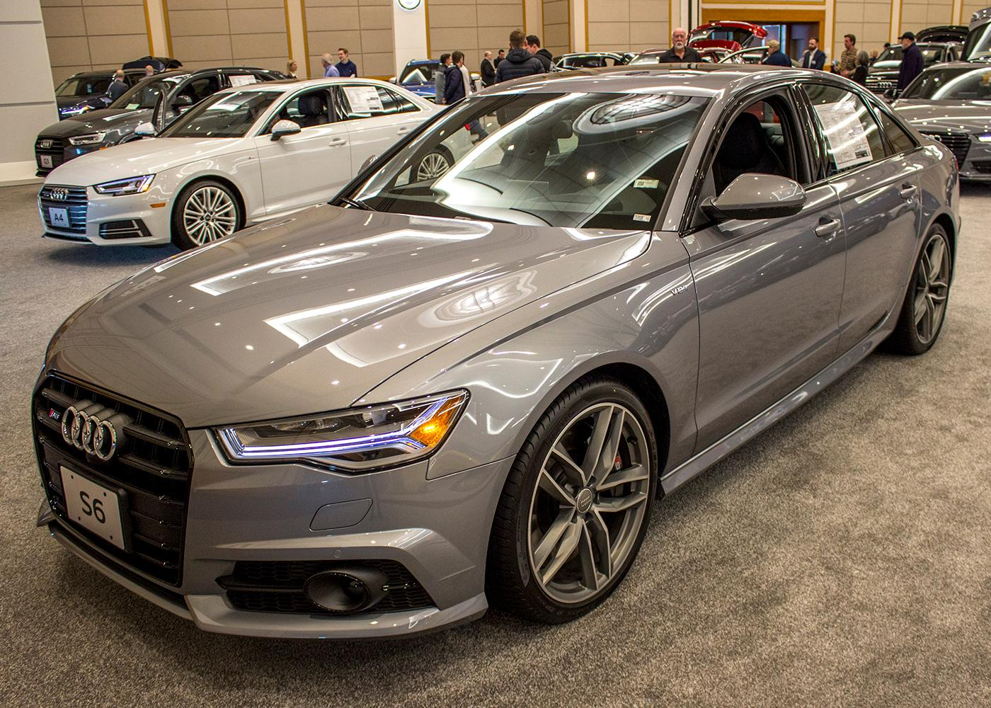 2018 Audi S6 Sedan 4.0T Quattro S tronic - The Portland International Auto Show began at the Oregon Convention Center on Jan. 25, 2018. The event drew prospective buyers and others who enjoyed looking at and comparing vehicles. Photo by Amanda Butt